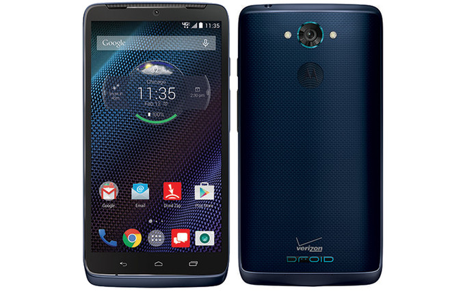 Motorola Droid Turbo en azul