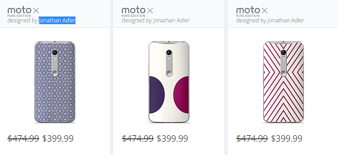 Moto X Pure Edition de Johnatan Adler