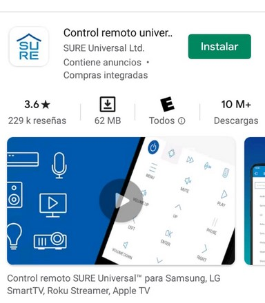 SURE Universal Remote en playstore